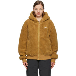 Stussy Beige Sherpa Zip Hoodie 118412