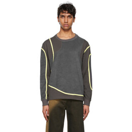 Eckhaus Latta Grey Wobble Sweatshirt 1008-EL-SS21-G