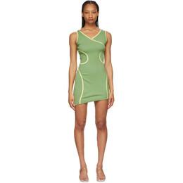 Eckhaus Latta Green Surface Dress 1005-EL-SS21-PI