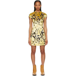 Eckhaus Latta Black and Gold Shrunk Dress 1020-EL-SS21