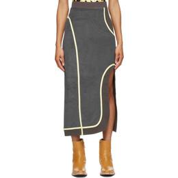Eckhaus Latta Grey Wobble Skirt 1007-EL-SS21-G