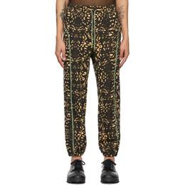Eckhaus Latta Brown and Beige Negative Lace Lounge Pants 1002-EL-SS21-NL