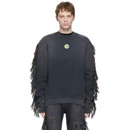 Alchemist Black Fringe Surfside Sweatshirt ALDRSS21MJSW01A