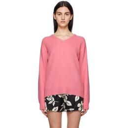 Tom Ford Pink Cashmere V-Neck Sweater MAK1049-YAX293