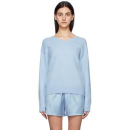Tom Ford Blue Cashmere V-Neck Sweater MAK1049-YAX293