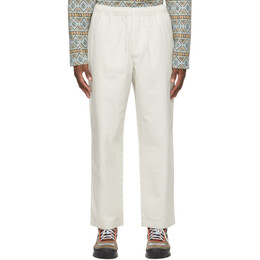 Stussy Off-White Brushed Beach Trousers 116423