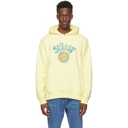 Stussy Yellow City Seal Applique Hoodie 118424