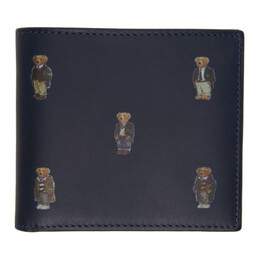 Polo Ralph Lauren Navy All-Over Bear Bifold Wallet 405826008001