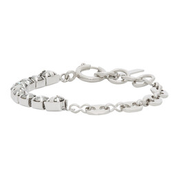 Justine Clenquet SSENSE Exclusive Silver and Grey Vic Bracelet SSENSE Exclusive Vic Bracelet