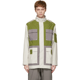 A-Cold-Wall* Off-White and Green 3L Model 4 Jacket ACWMO043