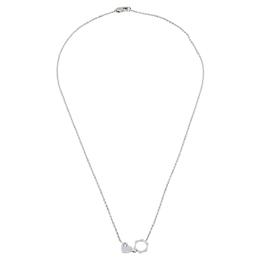Montblanc Star Diamond Heart Charm 18K White Gold Necklace 408704