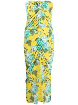 Fisico платье со сборками и цветочным принтом FG62LR