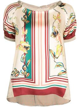 Antonio Marras блузка с вырезом-лодочкой и цветочным принтом LB1011D40S0