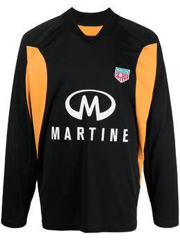 Martine Rose толстовка в стиле колор-блок с логотипом MR121S