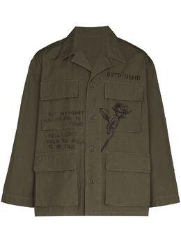 Neighborhood куртка в стиле милитари с графичным принтом 211YTODNJKM01