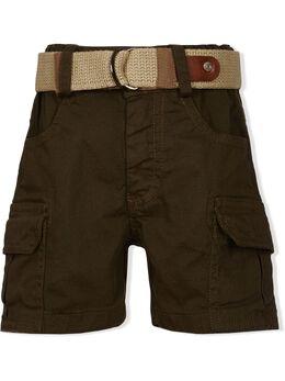Lapin House брюки карго с поясом 211E4410