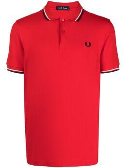 Fred Perry рубашка поло с отделкой в полоску FPM360037