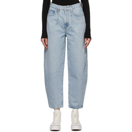 Agolde Blue Tapered Balloon Curved Jeans A166-1206