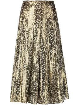 Victoria Beckham юбка с эффектом металлик 1121WSK002569A