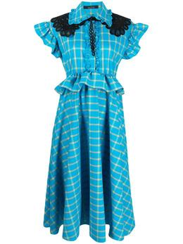 Rokh платье миди в клетку R6CA179PM