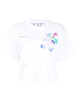 Off-White футболка с логотипом Arrows OWAA090S21JER0010184