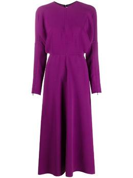 Victoria Beckham платье миди с объемными рукавами 1121WDR002513A