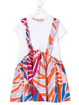 Emilio Pucci Junior платье-футболка Sal со вставками 9O1041OC500