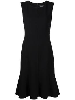 Oscar De La Renta расклешенное платье без рукавов 21CN2662STWBLK