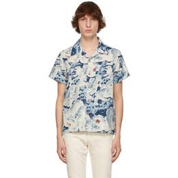 Naked And Famous Denim Indigo Aloha Short Sleeve Shirt 120518931
