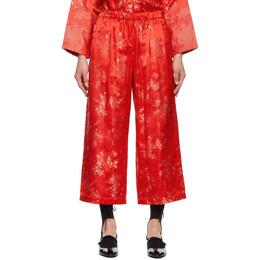 Comme Des Garcons Comme Des Garcons Red Jacquard Trousers RG-P009-051