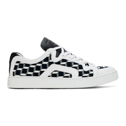 Pierre Hardy White and Black Cube Perspective 104 Sneakers VX02