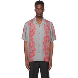 Stussy Grey Floral Pattern Shirt 1110157