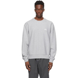 Stussy Grey Stock Logo Sweatshirt 118416