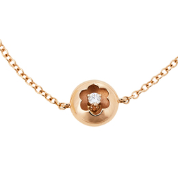 Montblanc Signet Diamond 18K Rose Gold Bracelet 410417