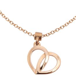 Montblanc Coeur de Pétales Entrelacés 18K Rose Gold Heart Charm Bracelet 410388