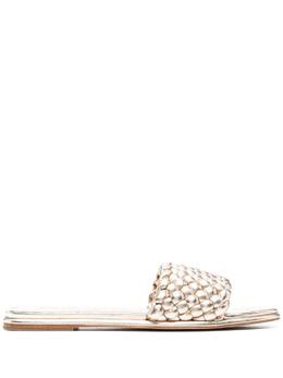 MICHAEL Michael Kors плетеные сандалии с открытым носком 40S1AMFA1M