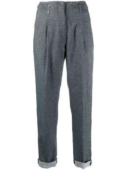 Peserico укороченные брюки кроя слим P04888L102482