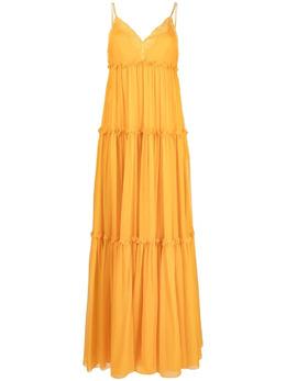Alberta Ferretti платье макси с кружевом A04480114