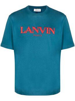 Lanvin футболка с вышитым логотипом RMTS0002J007E21