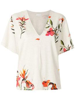 Osklen блузка Hibiscus с V-образным вырезом 61542