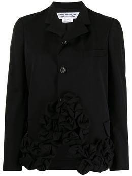 Comme Des Garcons Comme Des Garcons однобортный пиджак с аппликацией RGJ002051