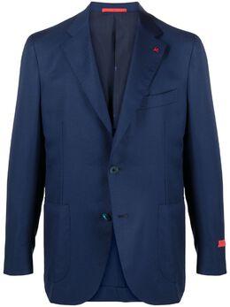 Isaia однобортный пиджак с заостренными лацканами 95659007145