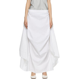 Mm6 Maison Margiela White Cotton Seat Cover Skirt S32MA0296 S49818