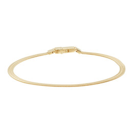 Tom Wood Gold Herringbone Bracelet B01031HB01S925-9K