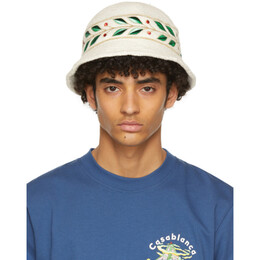 Casablanca White Laurel Panel Hat AS21-HAT-004