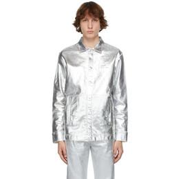 1017 Alyx 9Sm Silver Foil Denim Jacket AAUSH0071FA03.S21