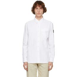 Belstaff White Twill Pitch Shirt 71120237