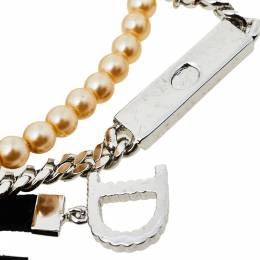 Dior Couture Faux Pearl Crystal Embedded Layered Pin Brooch 409232