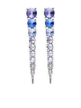 Oscar De La Renta серьги-подвески с кристаллами R21J013SAP
