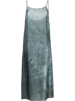 Uma Wang платье макси с эффектом потертости UW5089